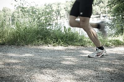 gravel trail surface runner