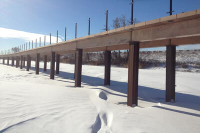 wolf lake boardwalk construction progress