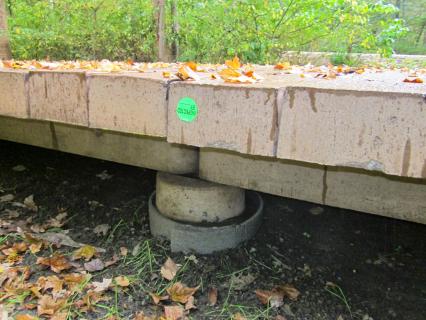 concrete boardwalk shallow footing