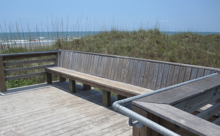 timber boardwalk sand dunes