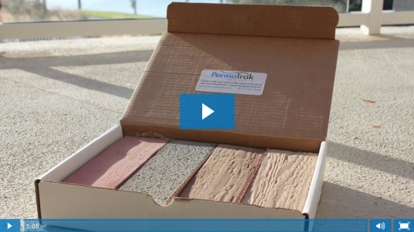Are PermaTrak Concrete Boardwalks Colored or Stained?