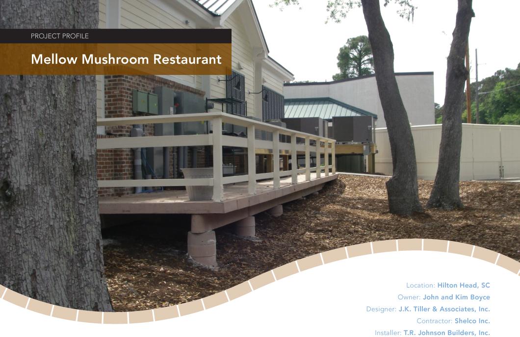 Mellow Mushroom Concrete Boardwalk