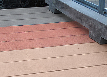 tread surface and color palette for concrete boardwalks