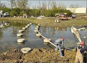 beckett park permatrak concrete boardwalk construction