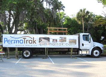 permatrak east coast road tour truck display