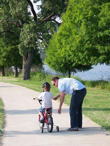 bike path training ride