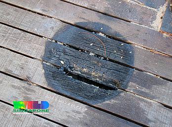 timber boardwalk fire burn marks resized 600