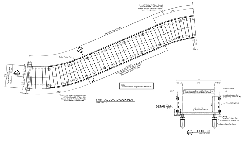Engineering Layouts for Commercial Boardwalks