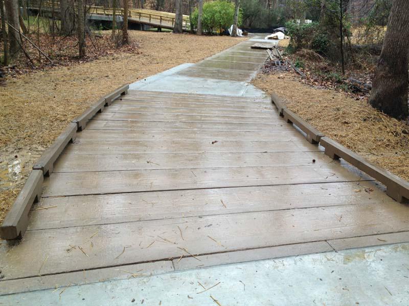 Concrete Boardwalk Stream Crossing