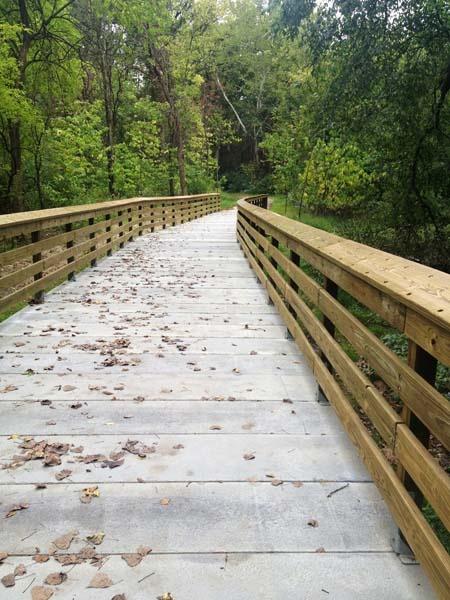 Concrete Boardwalk with Railing