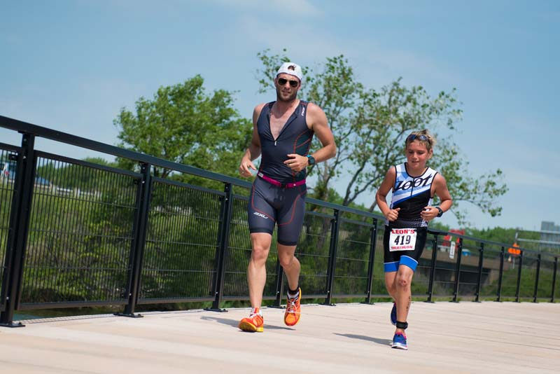Runners on Boardwalk at Wolf Lake