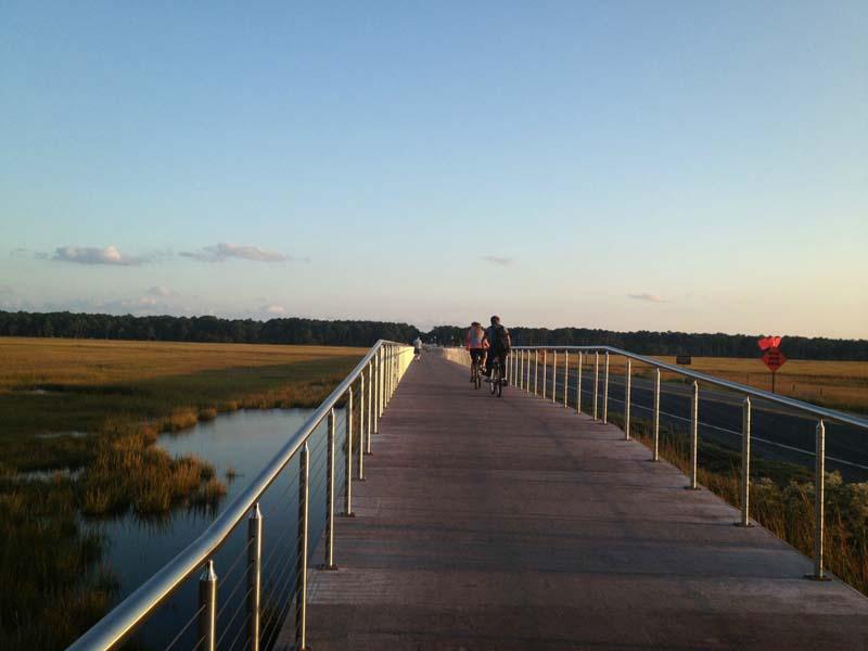 Concrete Boardwalk Over Wetlands