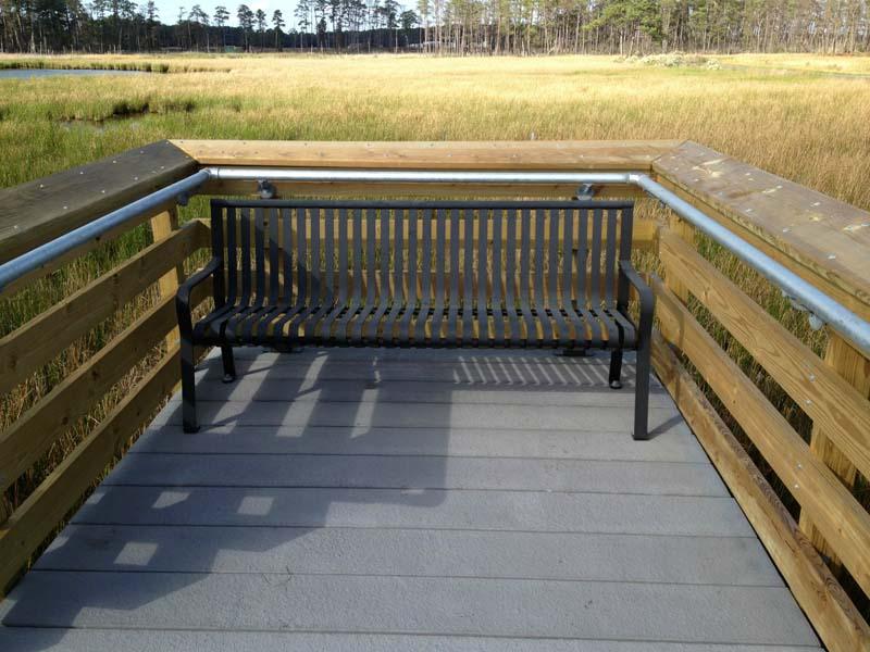 Timber Railing Concrete Boardwalk Design, Blackwater National Wildlife Refuge