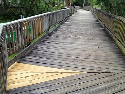 pressure treated pine boardwalk repairs resized 600