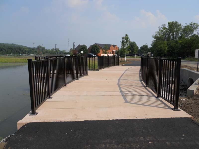 Concrete Boardwalk with Aluminum Pickett Railing