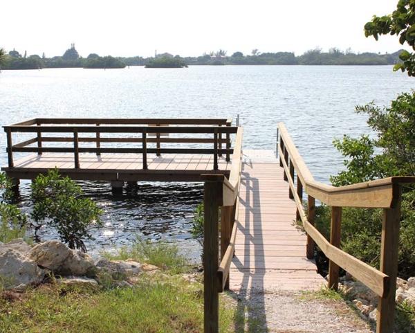 Concrete Boardwalk coastal dock