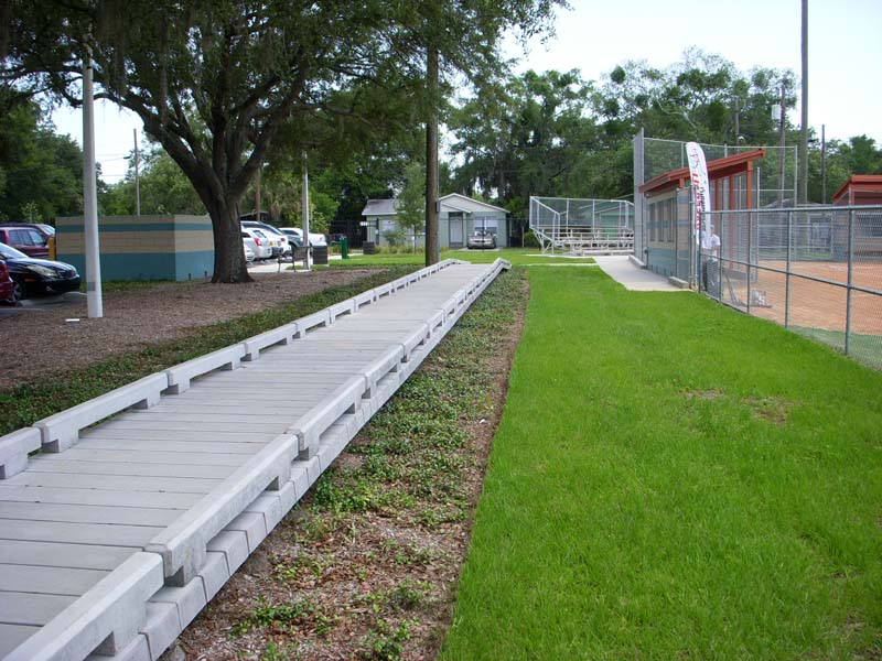 Springhill, Tampa, FL Concrete Boardwalk Urban Walkway