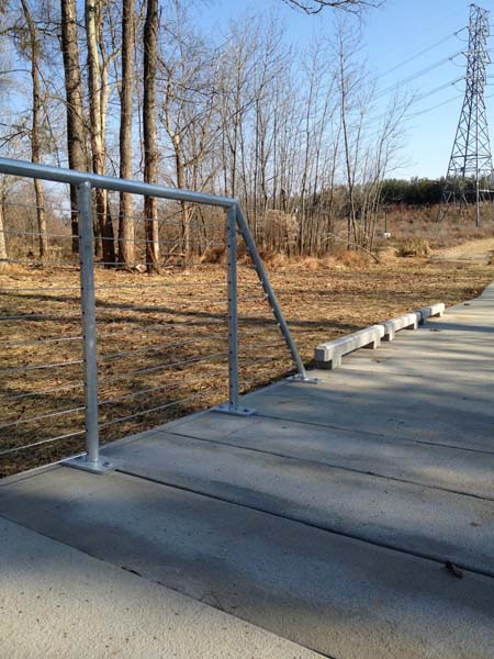Galvanized Post and Stainless Steel Strand Railing McAlpine