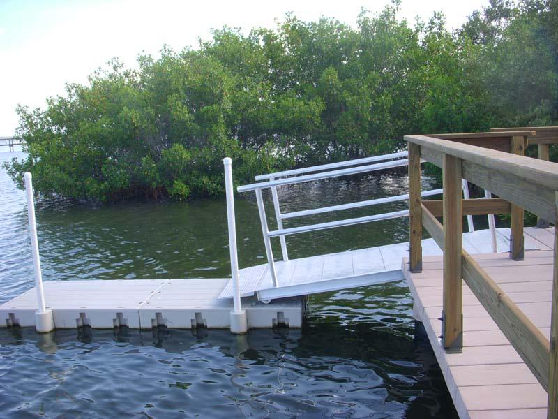 Concrete Boardwalk for Boat Dock