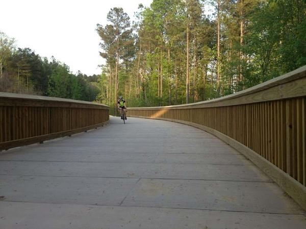 Cyclist on White Oak Greenway - PermaTrak