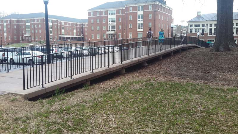 Wake Forest University Concrete Pedestrian Bridge