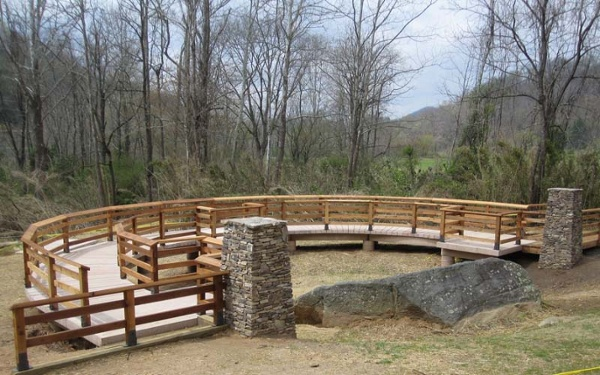 Judaculla Cedar Concrete Observation Platform