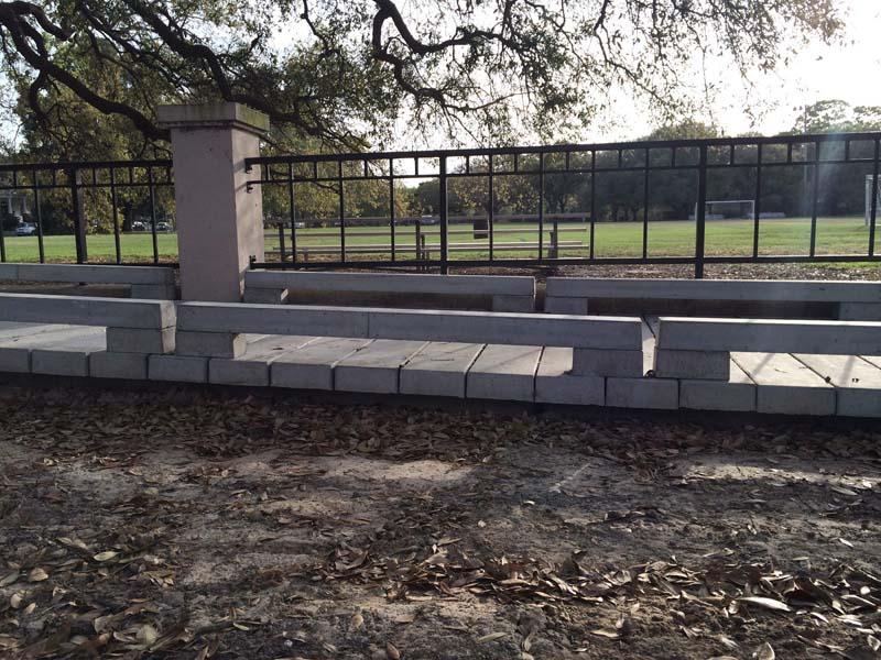 Precast Concrete Curb Reinforcement : Concrete boardwalk design typical section permatrak