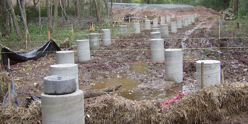 Concrete Boardwalk Construction Cast In Place Piers Or Piles