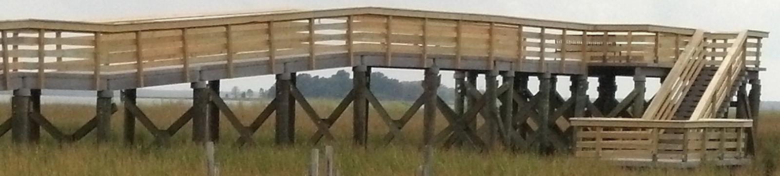Wood Piling Construction : Concrete boardwalk construction timber piles