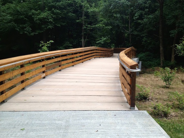 Concrete Boardwalk with Railings