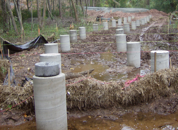 drilled shaft concrete caisson boardwalk foundation resized 600