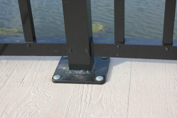 Aluminum Railing Base Plate   PermaTrak Boardwalk resized 600