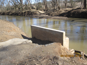 abutment for pedestrian bridge