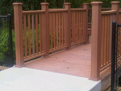 trex composite decking wetland boardwalk