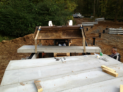 Boardwalk construction installing concrete boardwalk for How much does composite decking weigh