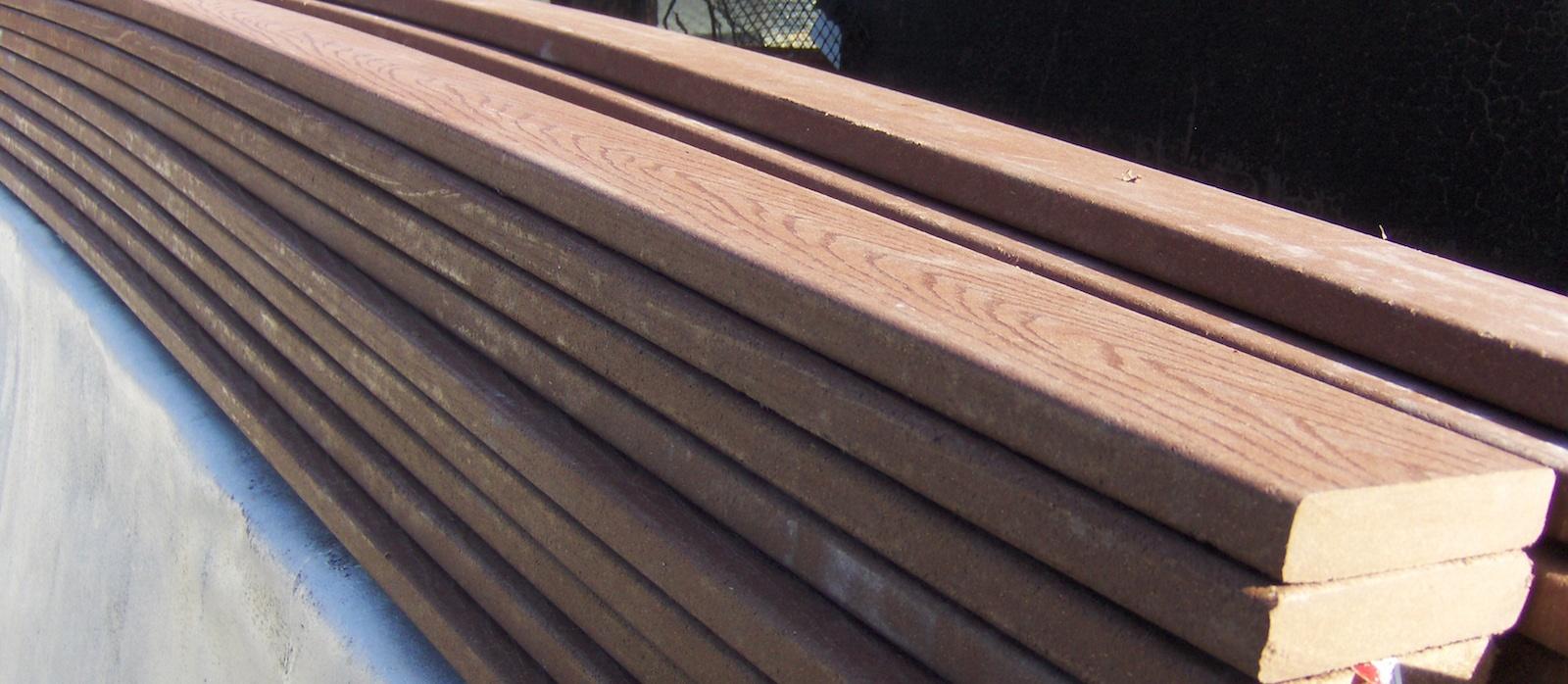 Trex composite decking vs permatrak concrete boardwalk for Composite decking material reviews