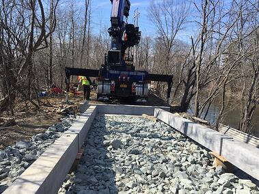 erie-canal-towpath-pedestrian-bridge-construction