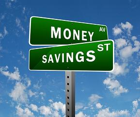 Money and Savings sign