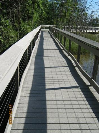 Trex composite decking vs permatrak concrete boardwalk for Disadvantages of composite decking