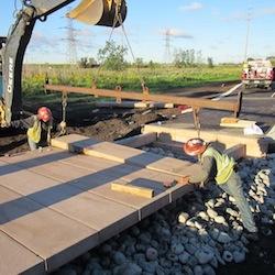 concrete boardwalk tread install