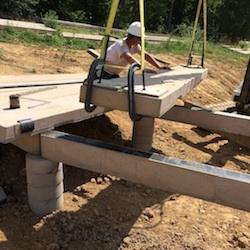 curved boardwalk treads installation