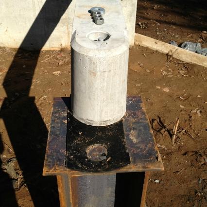 beam on steel pile