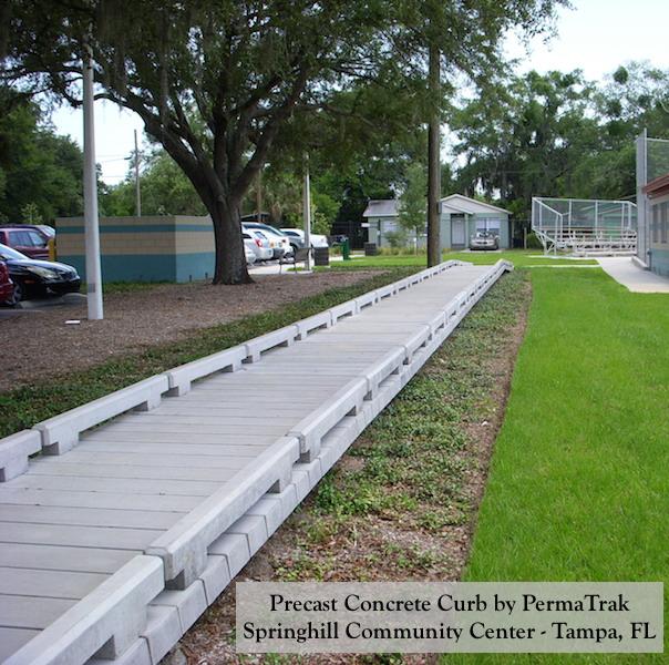 Springhill Tampa FL Concrete Boardwalk Urban Walkway