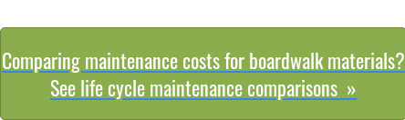 Comparing maintenance costs for boardwalk materials?  See life cycle maintenance comparisons »