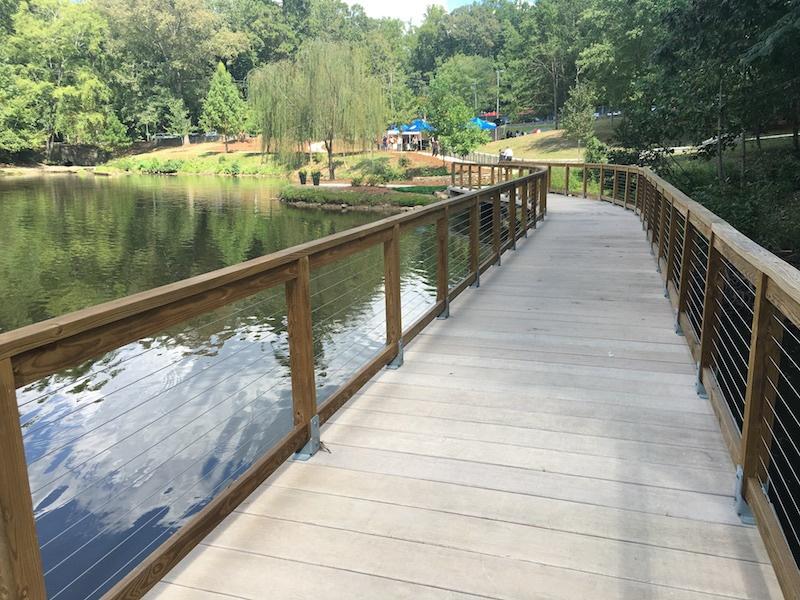 Adams Park Concrete Boardwalk