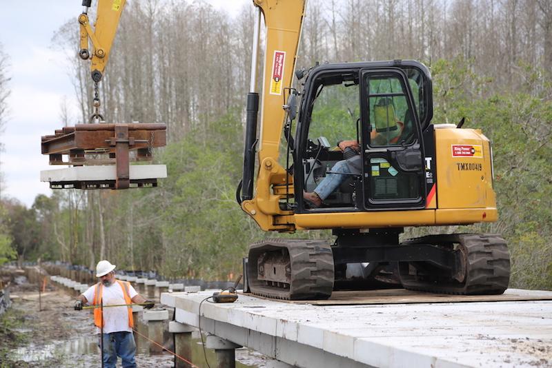 tampa bay trail boardwalk install