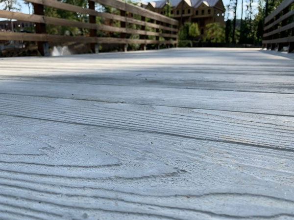Weathered Plank Texture with Natural Concrete