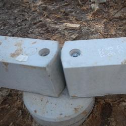Precast Concrete Beams Attached to Foundation