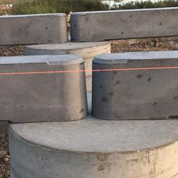 Level Concrete Piers