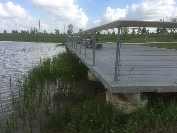 Josey Lake Concrete Pedestrian Bridge
